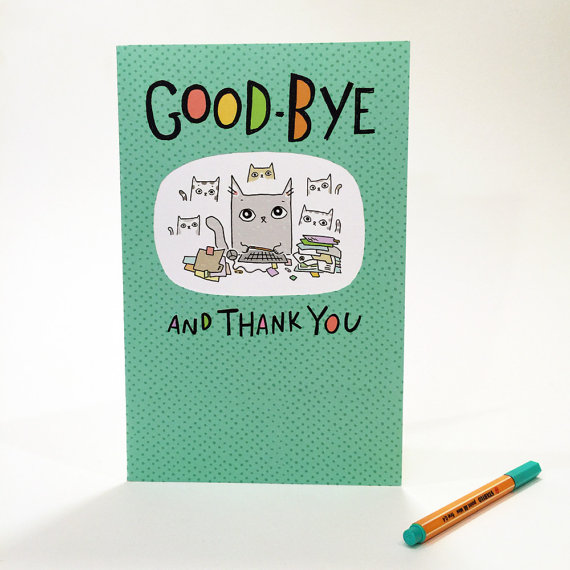 Colorful Cards - Good-bye #1 outside