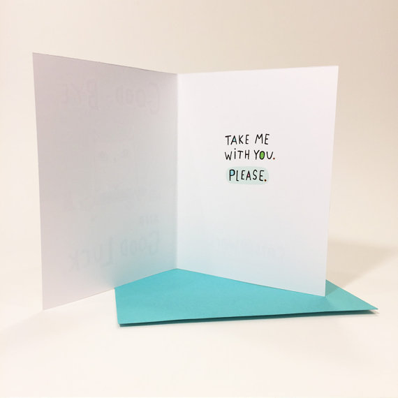Colorful Cards - Good-bye #2, inside